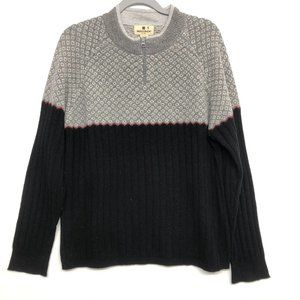 Woolrich 1/4 Zip 100% Lambswool Pull Over Sweater